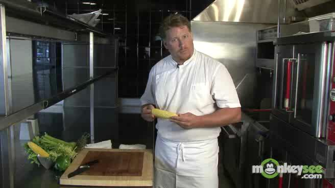 How to Use a Kitchen Knife - Take Corn Off the Cob