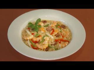 Express Shrimp and Sausage Jambalaya Recipe