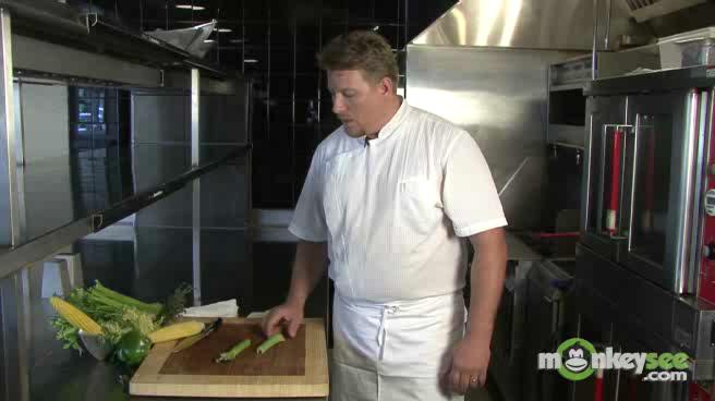 How to Use a Kitchen Knife - Dice Celery