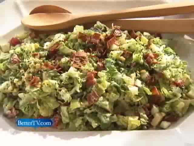 Chop Salad with Creamy Garlic Dressing Recipe