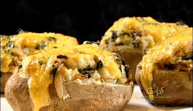 How to Make Twice Baked Irish Potatoes with Stout Onions and Kale