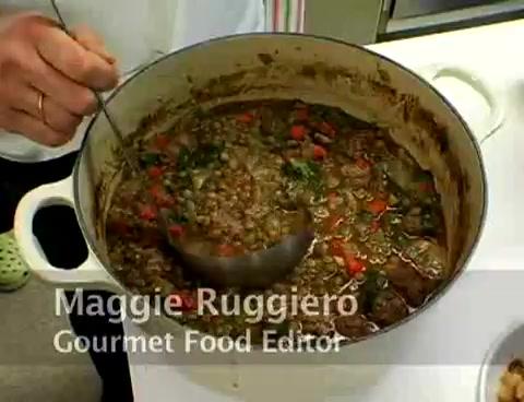 Gourmet Cooks Taste Lentil Soup