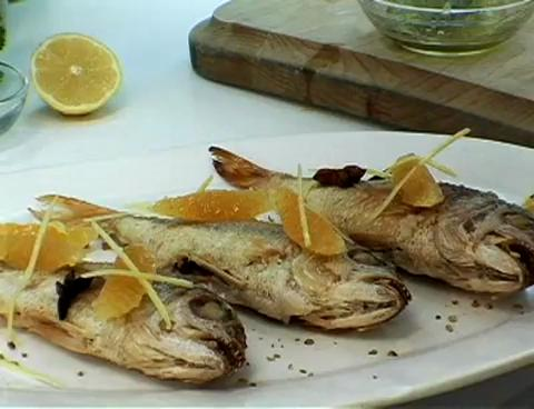 Jamaican Style Pan Roasted Fish with Oranges
