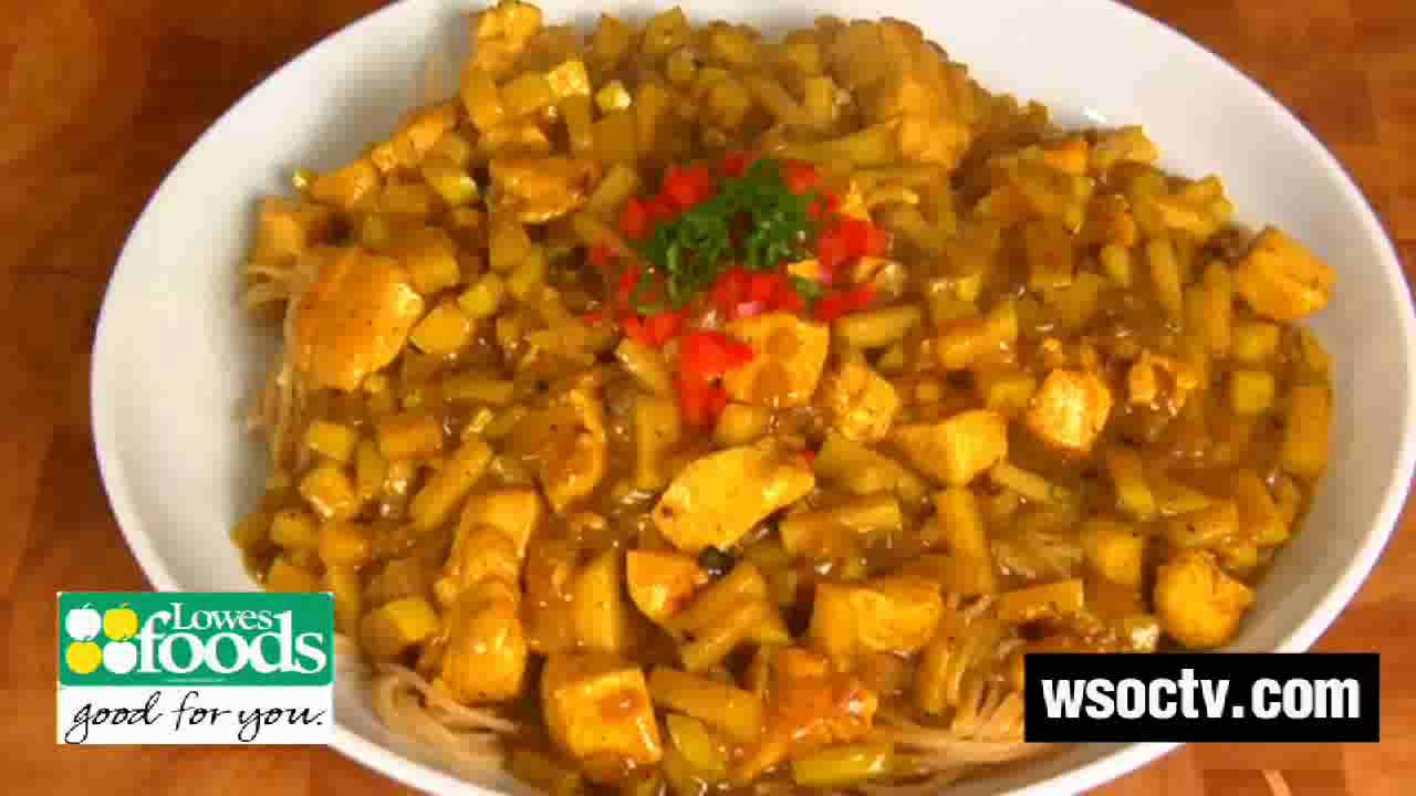 Curry Chicken with Apples and Pasta Recipe