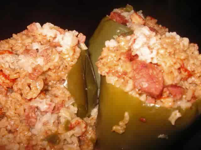 New Orleans Style Stuffed Bell Peppers