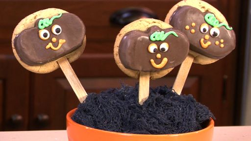 Pumpkin Lollipop Cookies