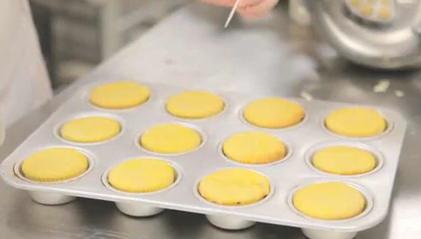 Mixing and Baking Lemon Cupcakes