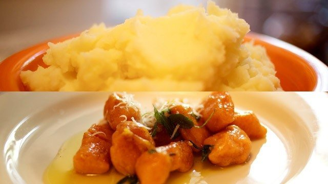 How to Make Mashed Potatoes and Sweet Potato Gnocchi