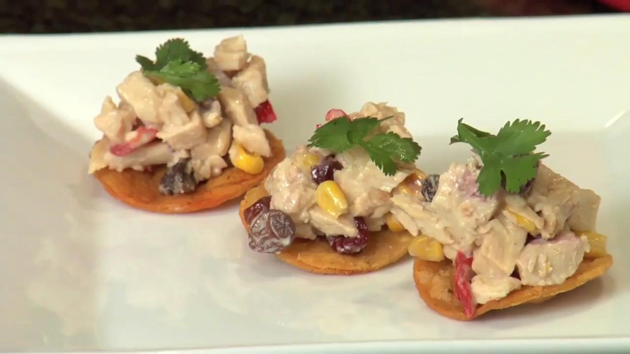How to Make Corn Tortillas and Chicken Salad Appetizer