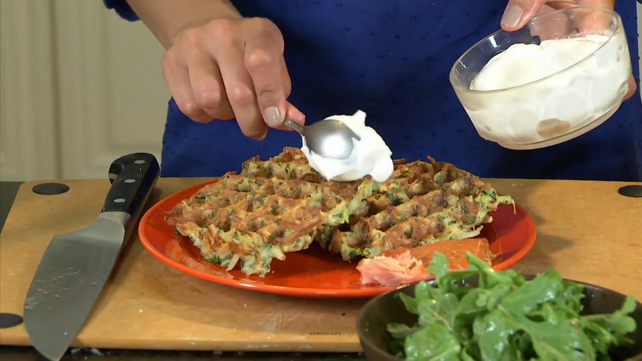 How to Make Potato and Zucchini Waffles With Herbs