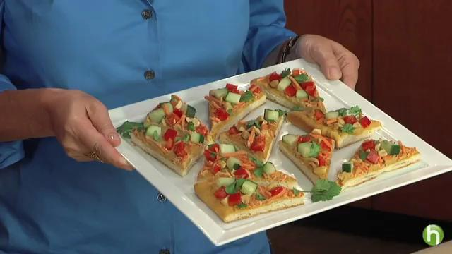How to Make Thai Pizza Appetizers
