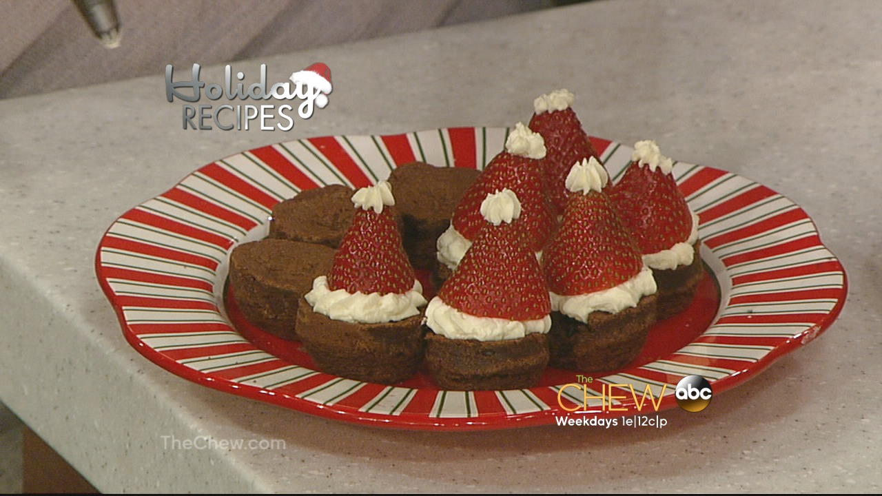 'The Chew': Holiday Desserts: Santa Hat Brownie Recipes