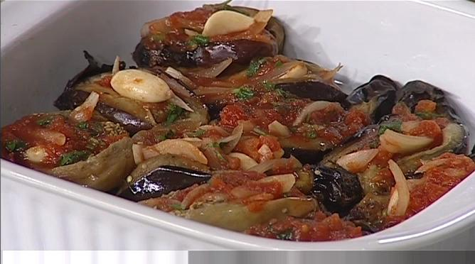 Baby Eggplants in Tomato Garlic Sauce