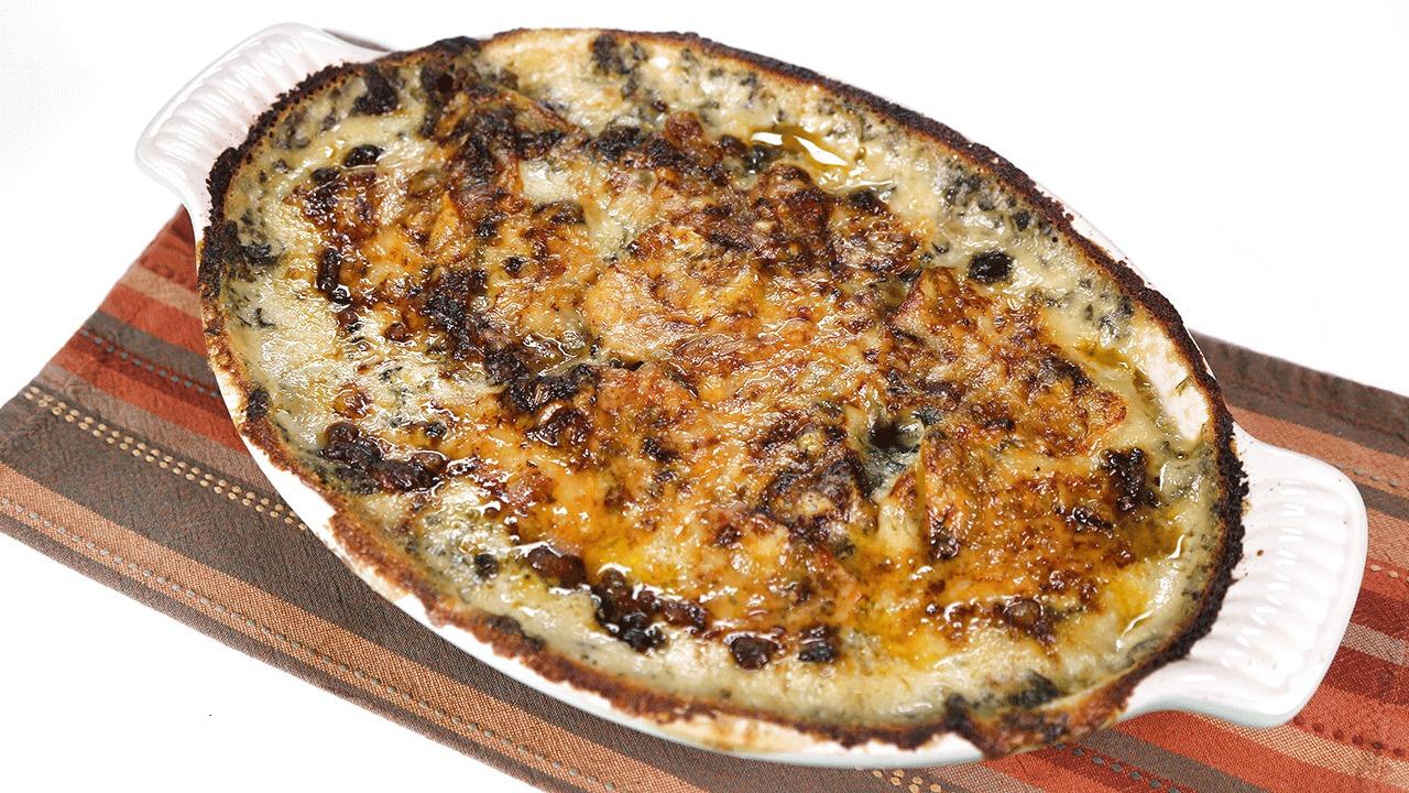 'The Chew': Creamed Spinach Potato Gratin: Part 1