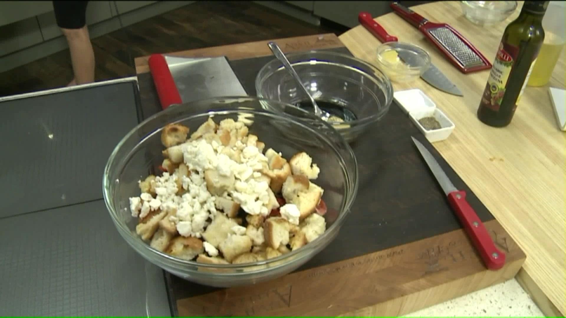 How To Make a Greek Panzanella Salad