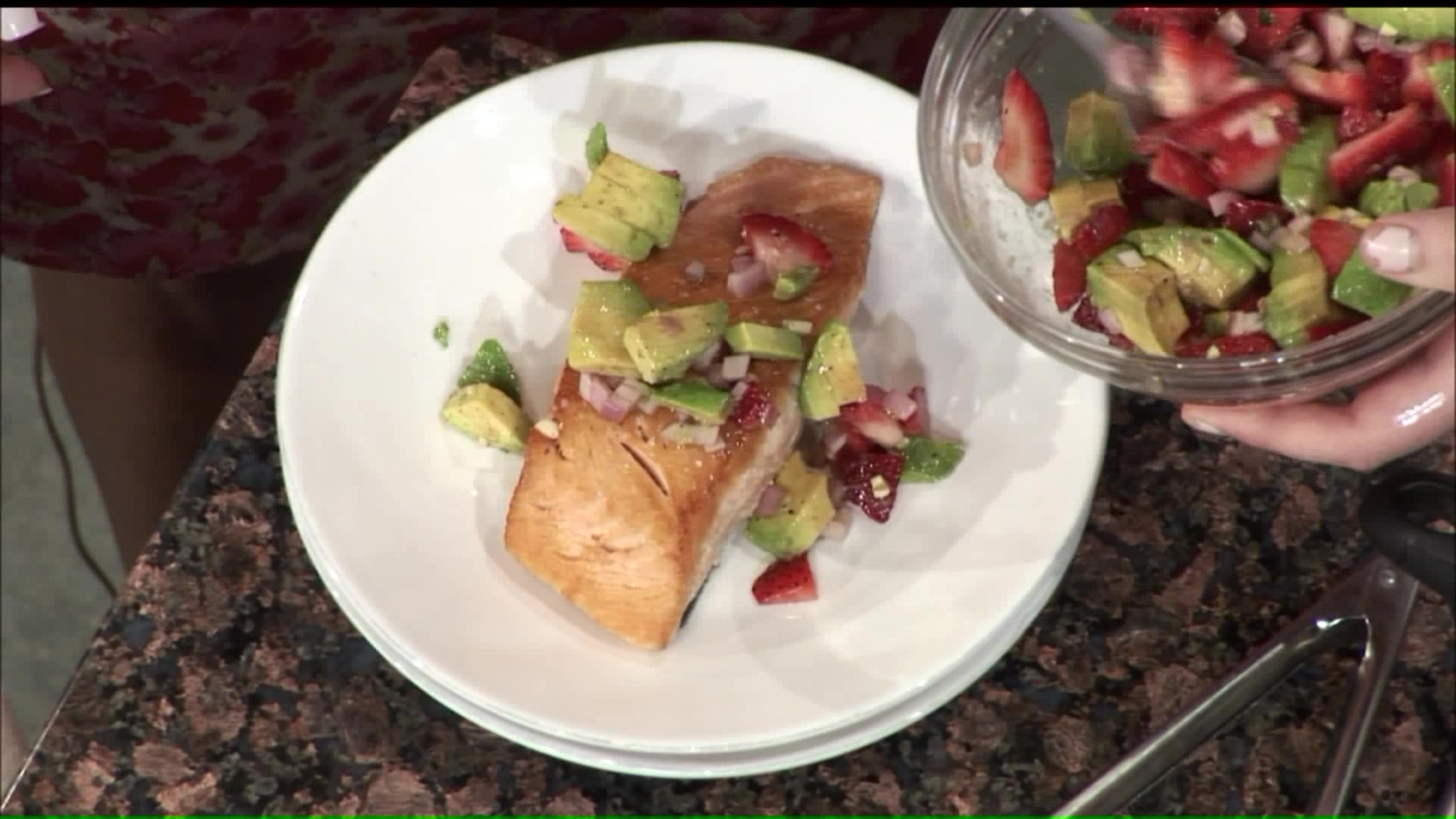 How To Make King Salmon With Strawberry Avocado Salsa