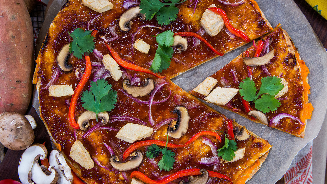 How to Make a Healthy BBQ Sweet Potato Tortizza