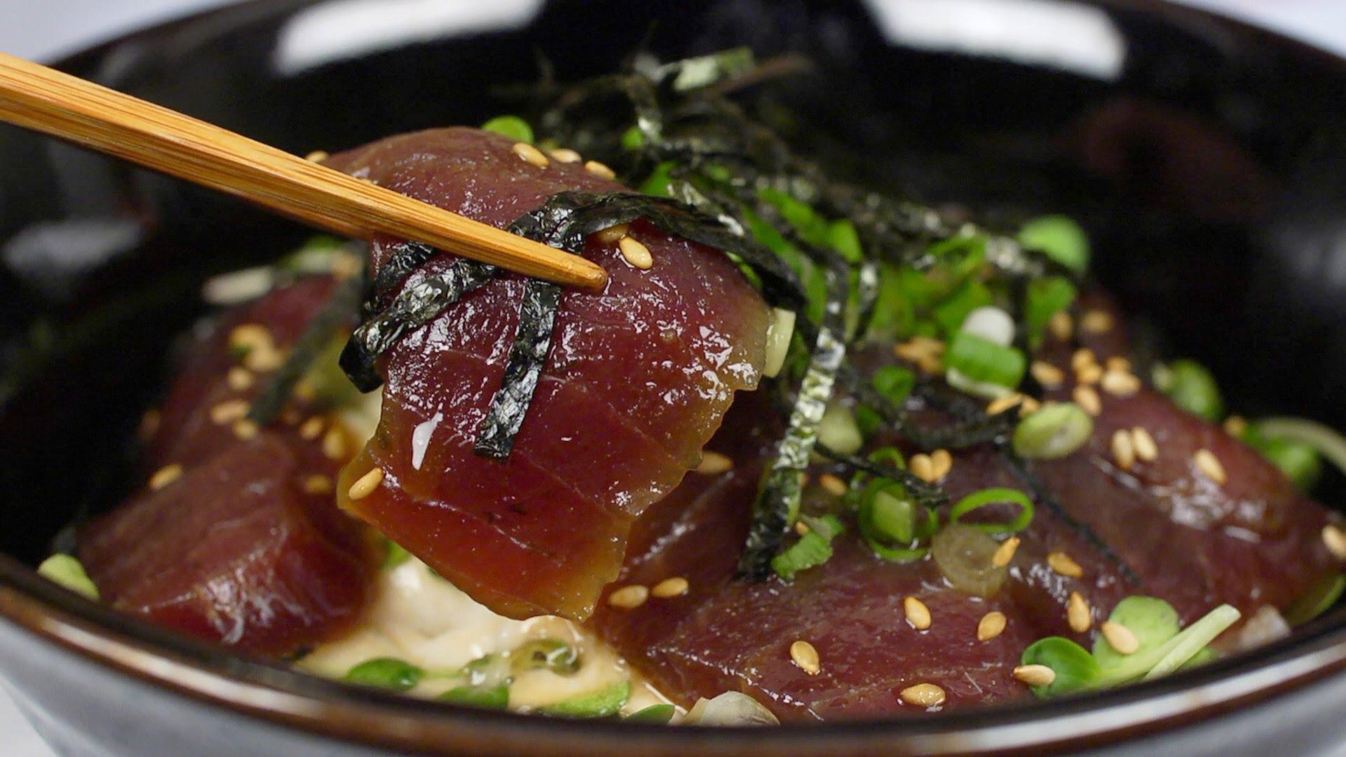 Marinated Fresh Tuna Bowl Recipe