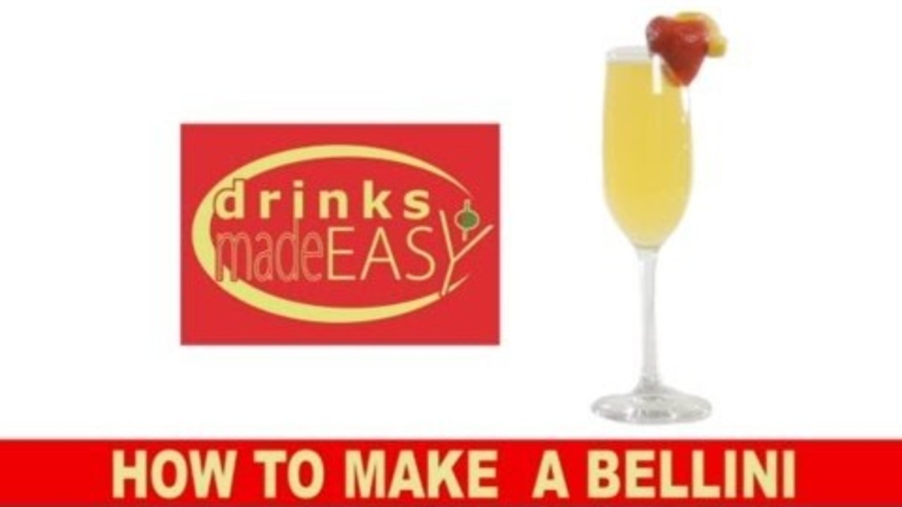 How to Make a Bellini Champagne Cocktail