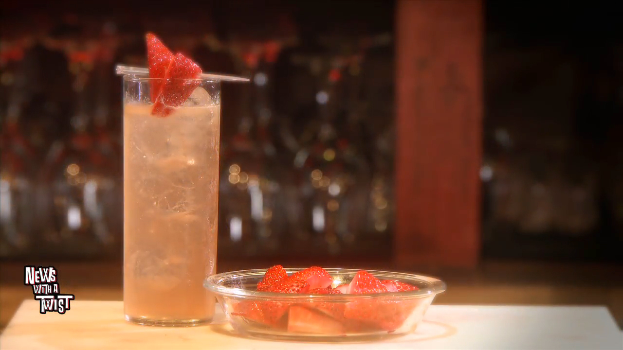 How To Make a Strawberry Collins