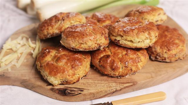 How to Make Bacon, Cheese and Leek Scones