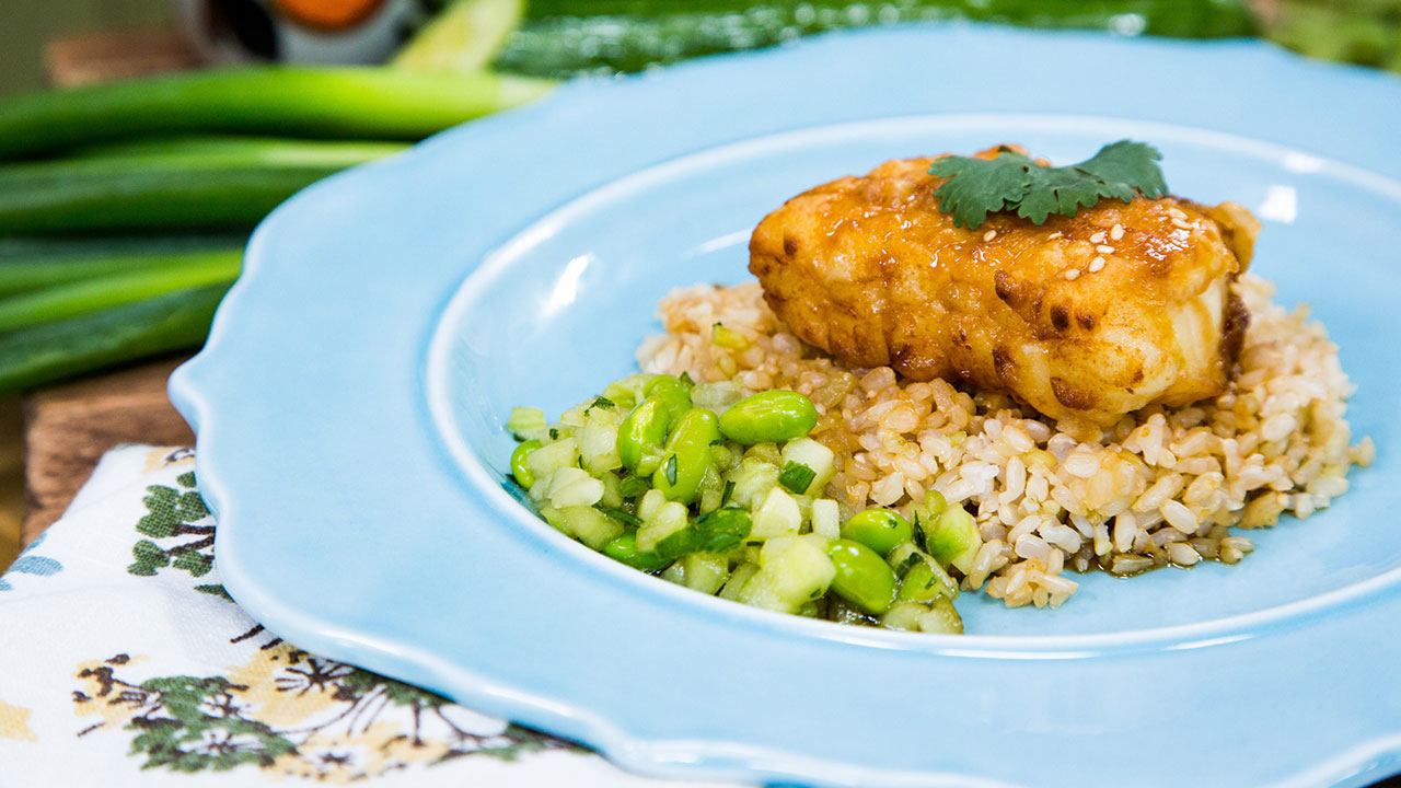 How to Make Sea Bass With Soy Glaze and Cucumber Salsa