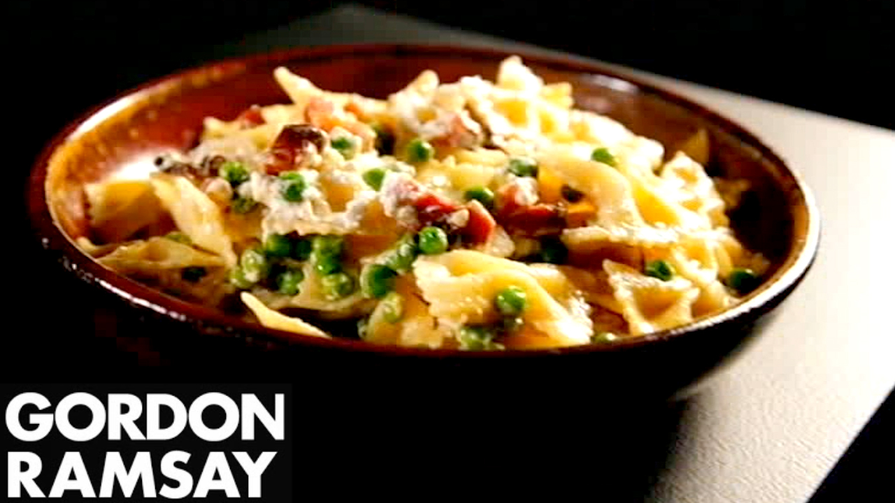 How to Make Farfalle With Ricotta, Pancetta and Peas - Gordon Ramsay