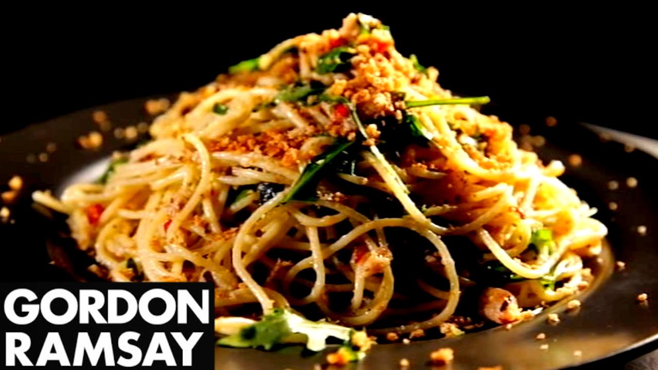 How to Make Spaghetti With Chilli, Sardines and Oregano - Gordon Ramsay