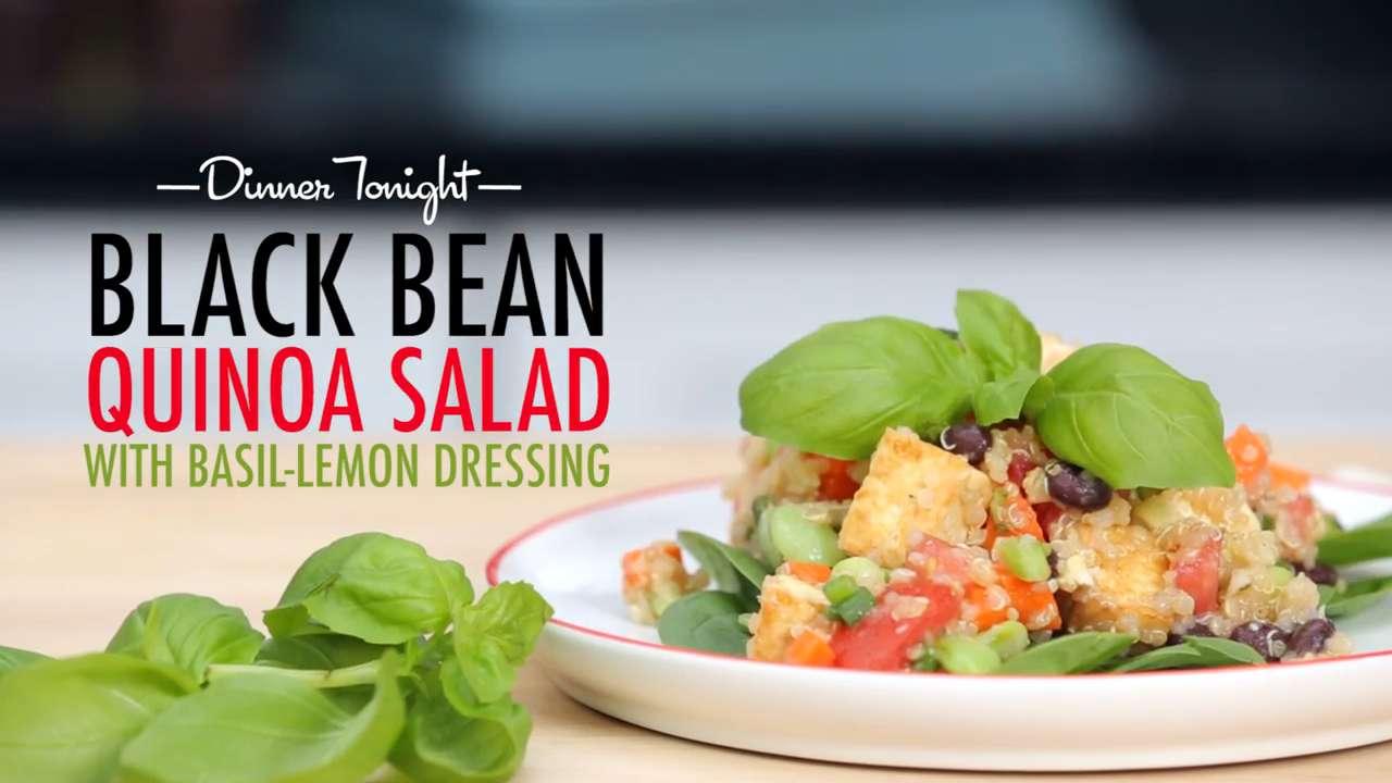 How to Make Black Bean-Quinoa Salad