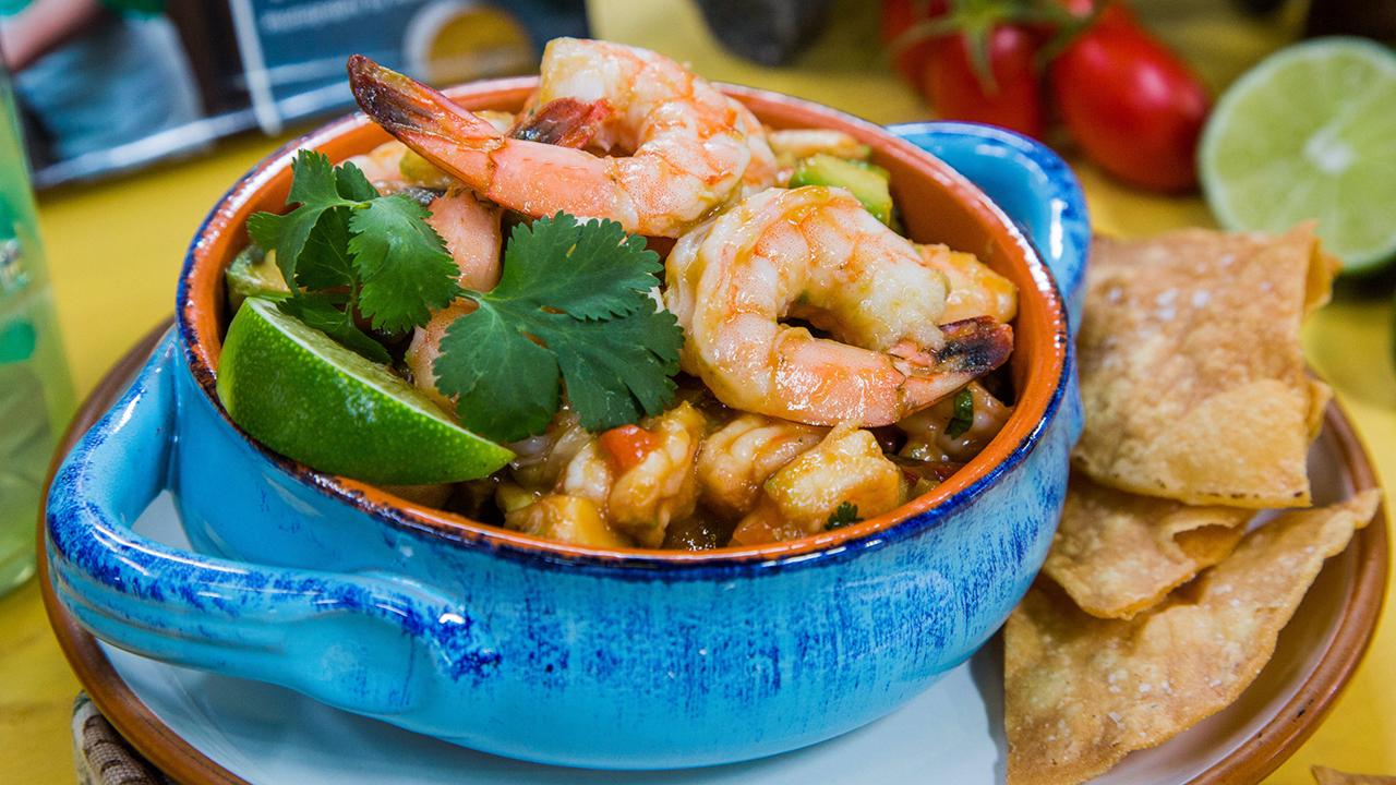 Chef Pati Jinich's Shrimp and Avocado Cocktail Pacífico Recipe
