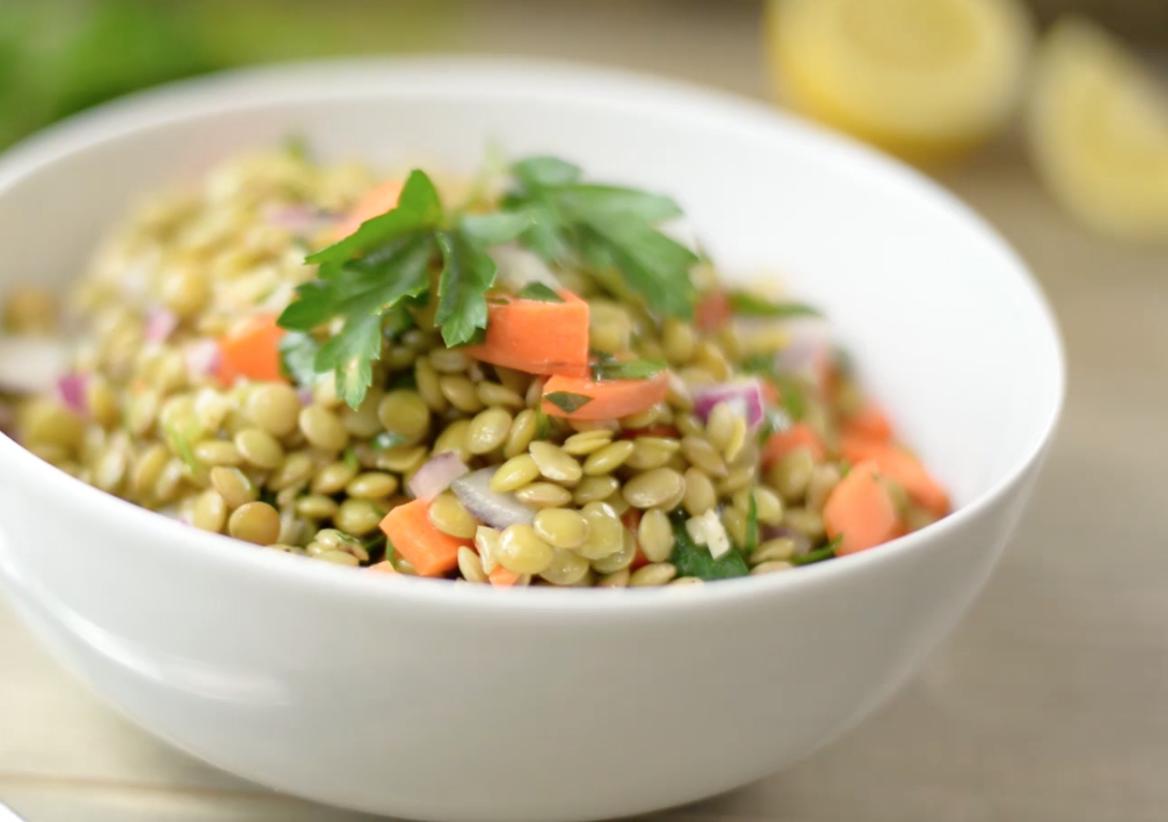 How to Make Cold Lentil Salad