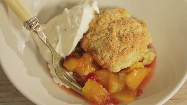 Peach and Raspberry Cobbler Recipe
