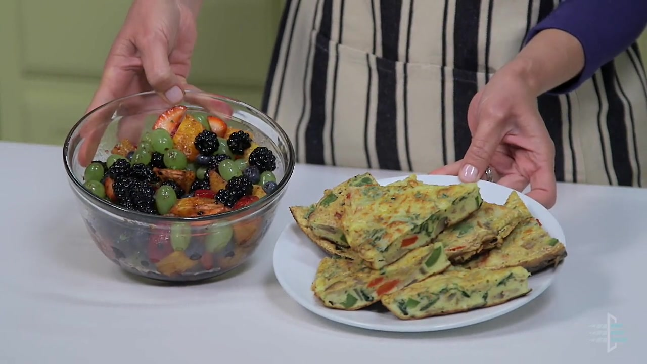 How to Make a Frittata with Fruit Salad