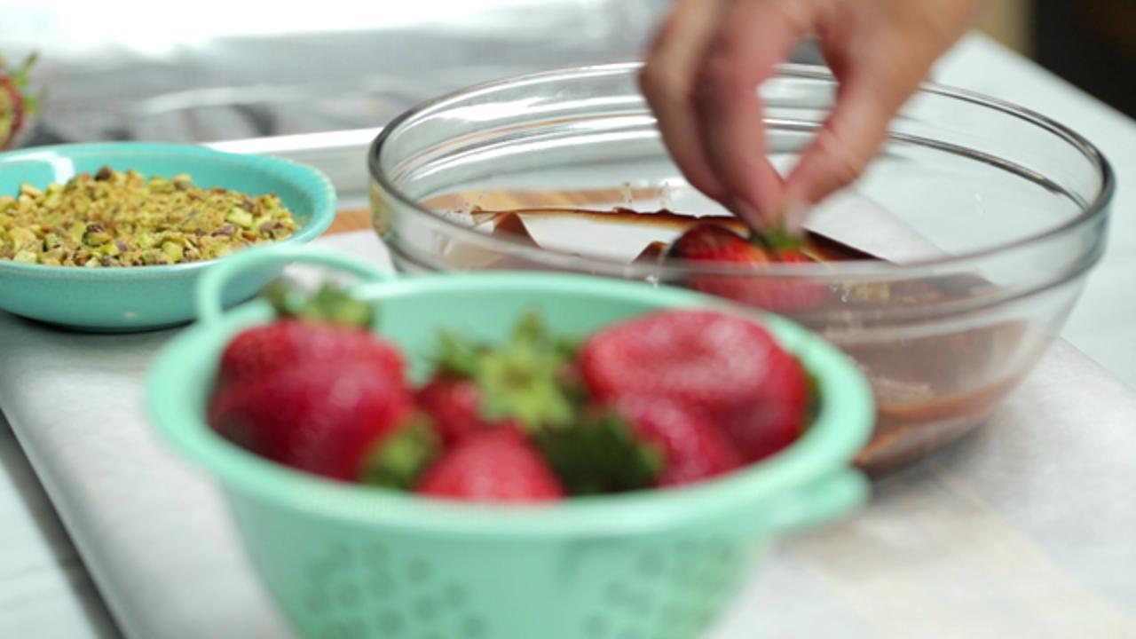 How to Make Dark-Chocolate Covered Strawberries