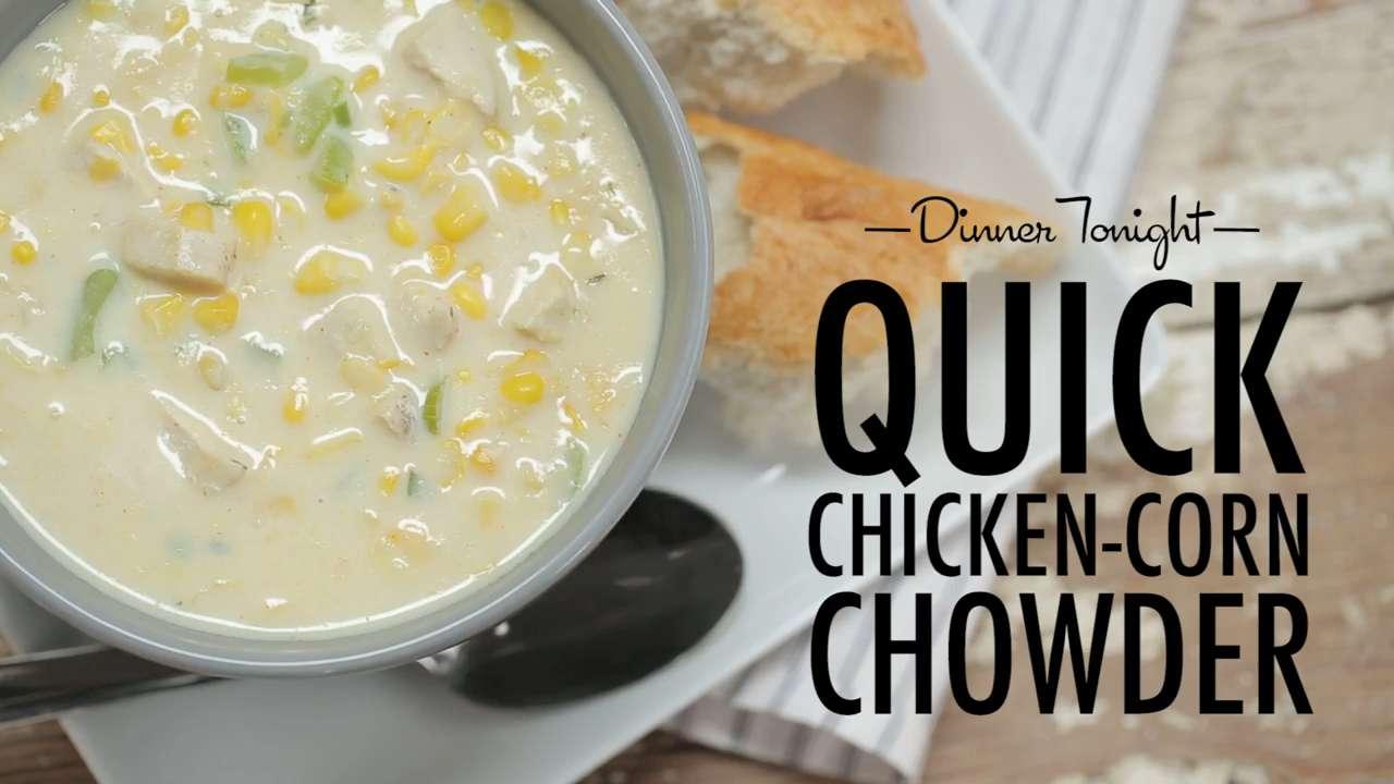 How to Make Quick Chicken-Corn Chowder