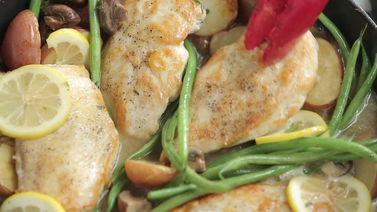 How to Make a Weeknight Lemon Chicken Skillet Dinner