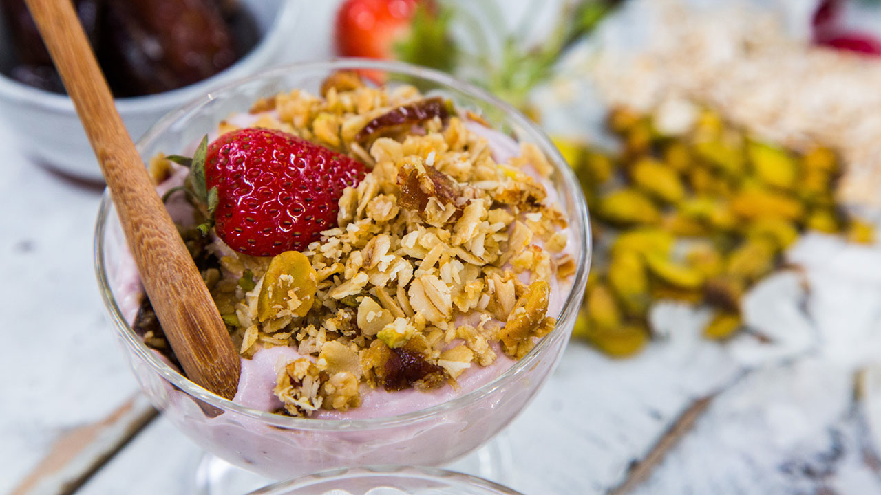 Healthier Homemade Granola and Yogurt Recipe