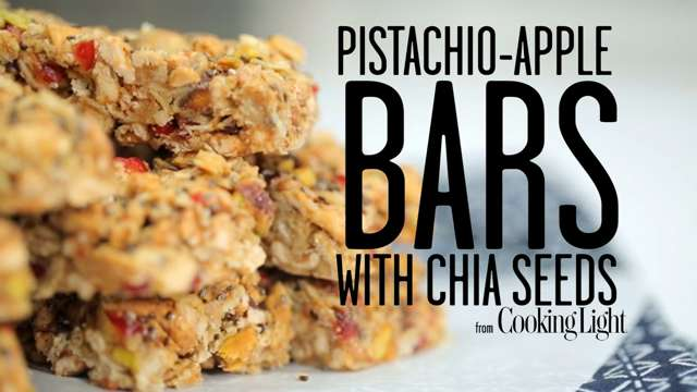 How to Make Pistachio Apple Bars with Chia Seeds