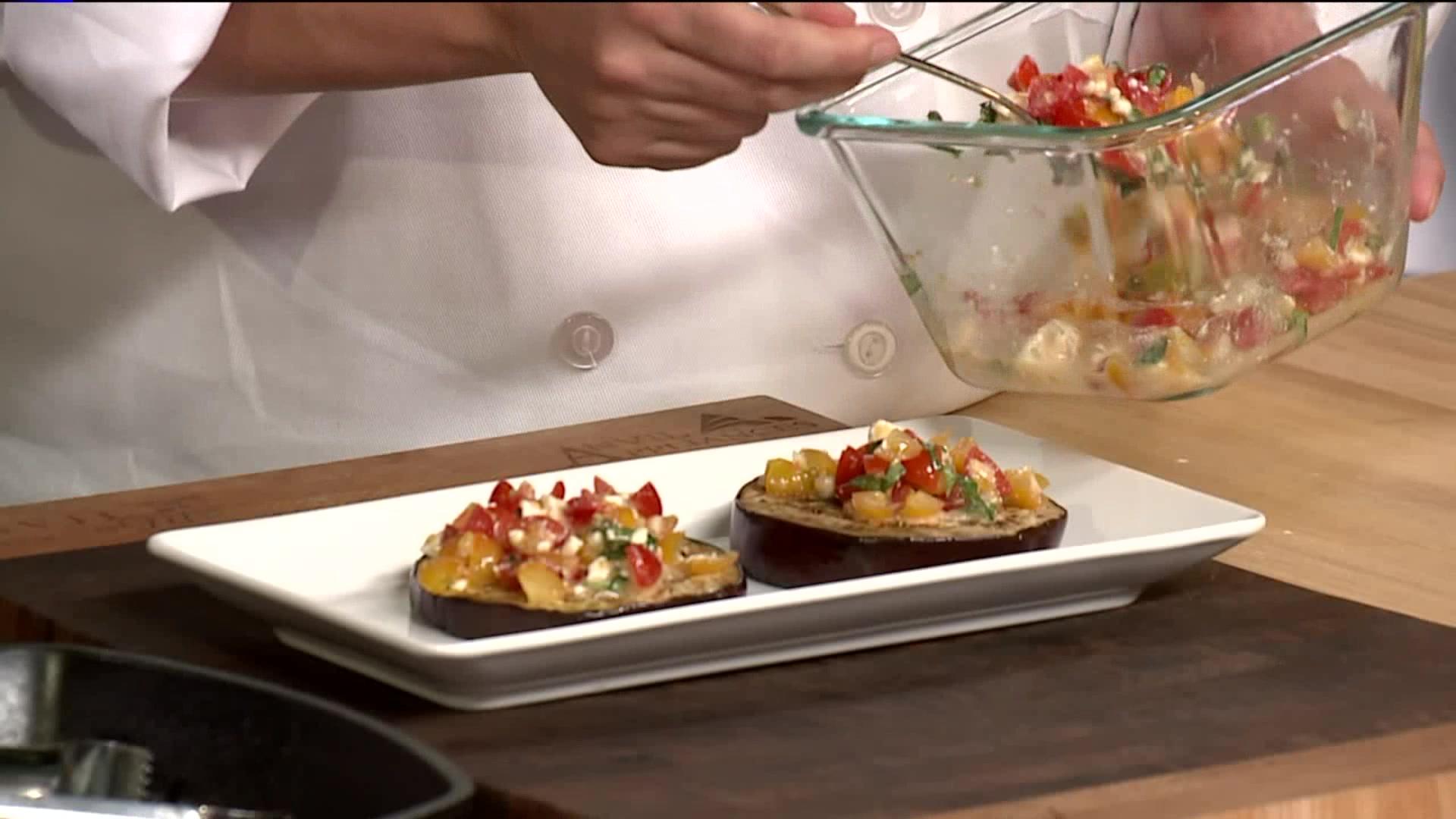 How to Make Eggplant Bruschetta