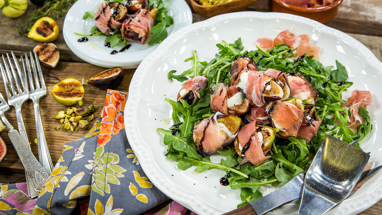 Grilled Stuffed Fig Recipe With Prosciutto, Goat Cheese and Pistachios