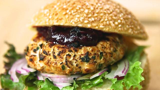 How to Make Alaska Sockeye Salmon Burgers and Rhubarb Chutney