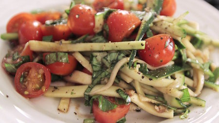How to Make a Sliced Zucchini Summer Salad