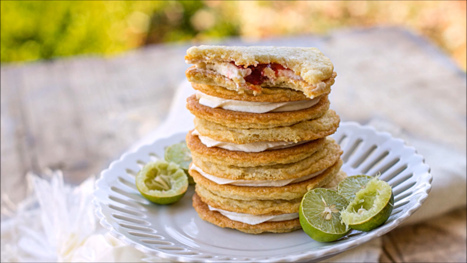 How to Make Key Lime Raspberry Sandwich Cookies