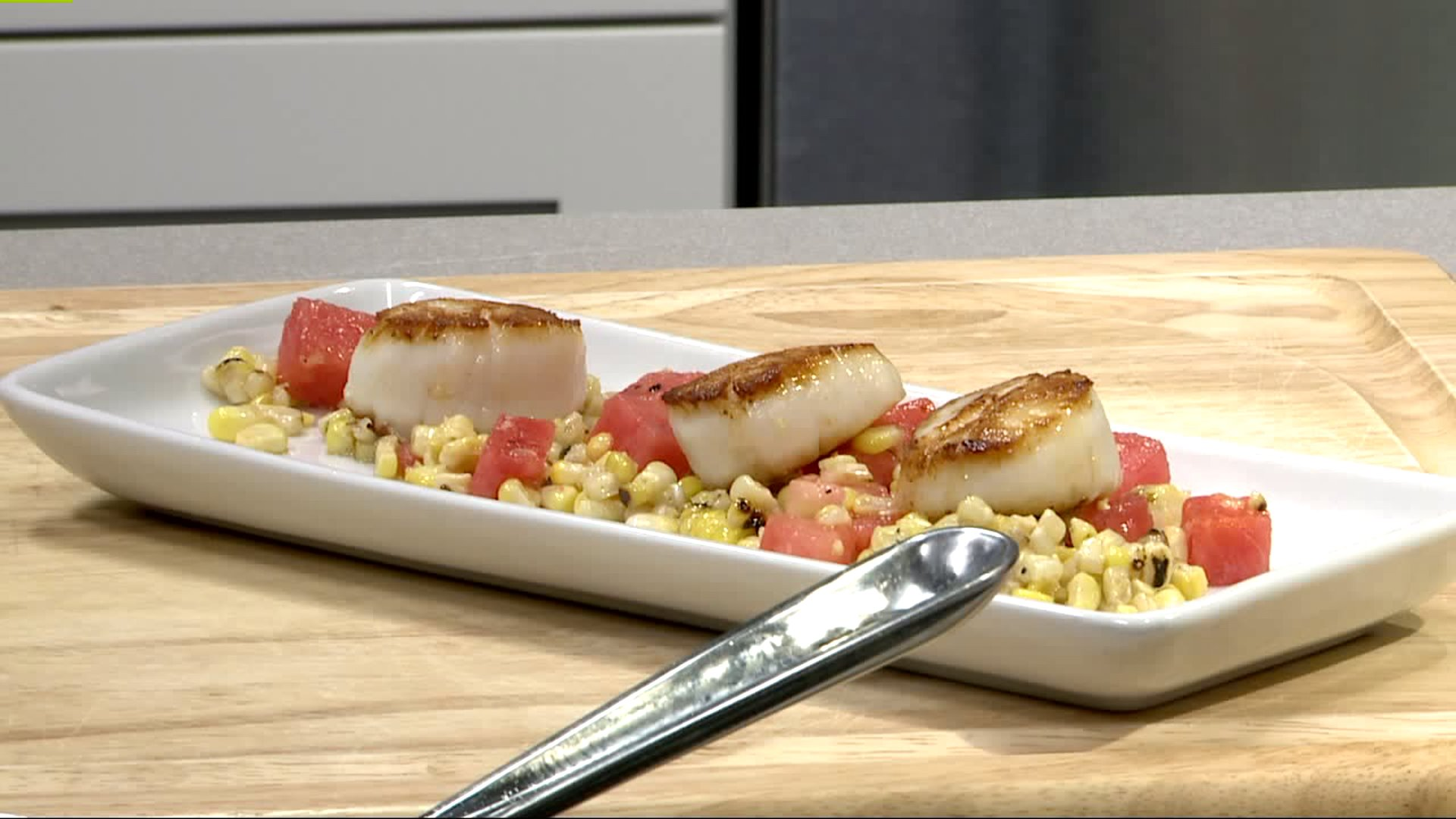 How To Make Seared Scallops With Watermelon Corn Salsa