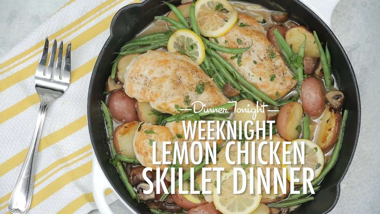 How to Make a Weeknight Lemon Chicken Skillet Dinner