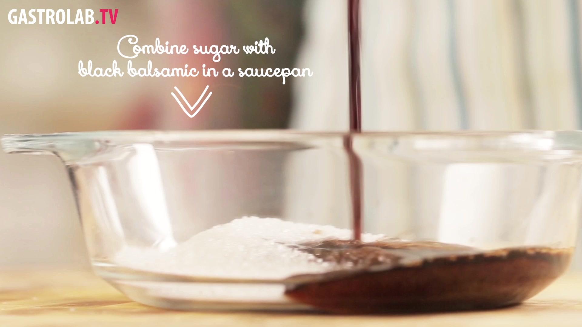 Raspberries and Black Balsamic Vinegar Syrup Recipe