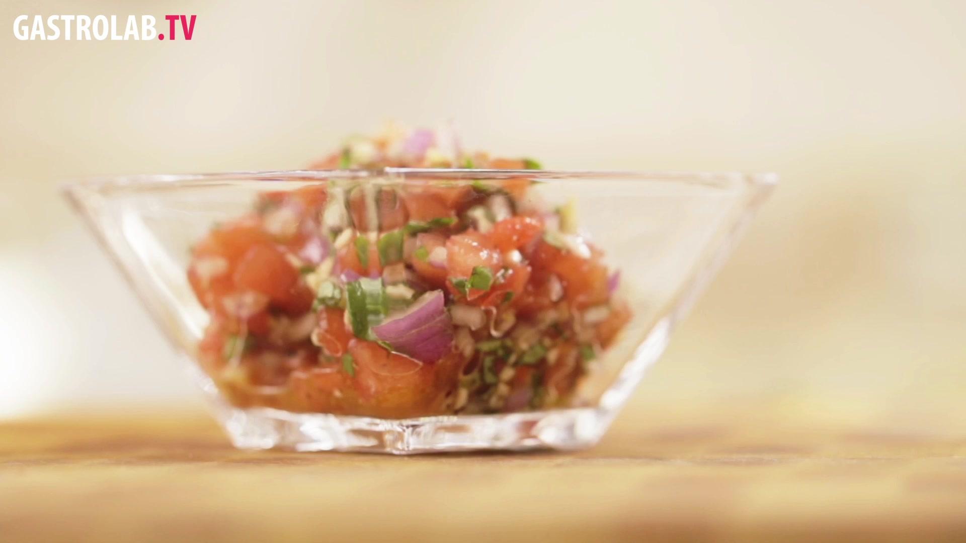 Tomato Salsa with Basil and Garlic Recipe
