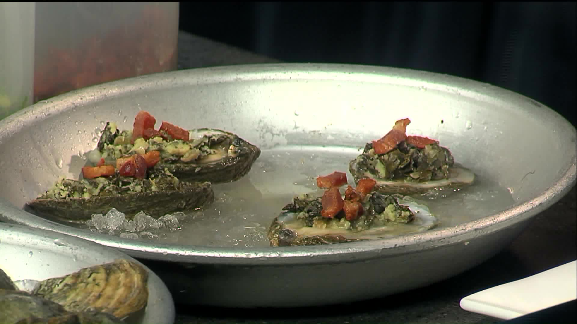 How to Make Fire-Roasted Oysters With Braised Kale & Bacon