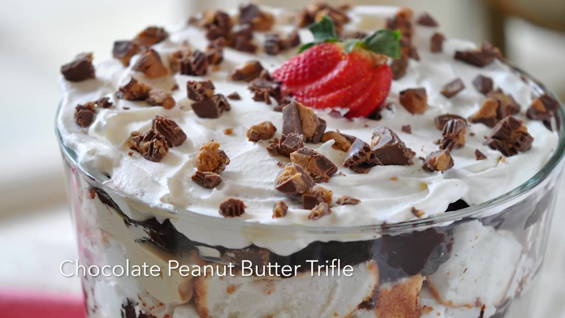 How to Make Chocolate Peanut Butter Trifle
