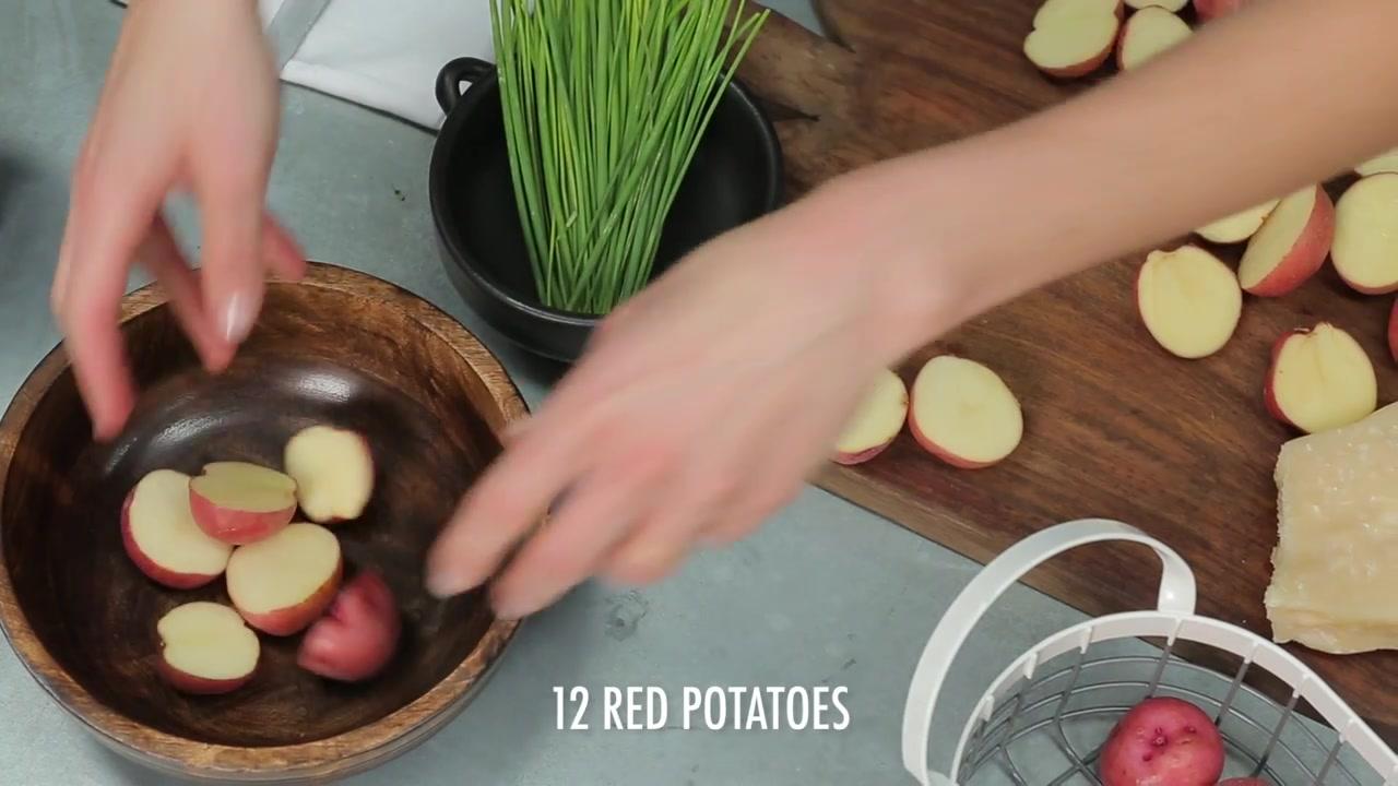 How to Make Lemon-Caper Parmesan Potato Salad Bites